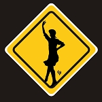 Dancer Warning Sticker