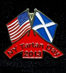 New York Tartan Day Pin 2013
