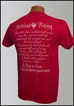 Antique Cherry Red Scotland Rising Motto short sleeve T-shirt