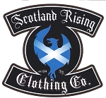 Scotland Rising Rocker Sticker