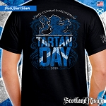 Official Scotland Rising 2019 Tartan Day Scotland Short Sleeve Tee