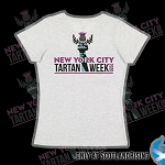 NYC Tartan Week 2020 Logo Ladies V-Neck Tee