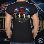 Official Scotland Rising 2020 Tartan Day Ladies Short Sleeve V-Neck