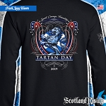 Official Scotland Rising 2019 Tartan Day USA Long Sleeve Tee