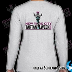 New York City Tartan Week Ladies Logo Sleeve Tee