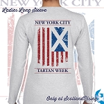 New York City Tartan Week Ladies Flag Long Sleeve Tee