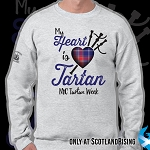 New York City Tartan Week Tartan Heart Crew Sweat Shirt