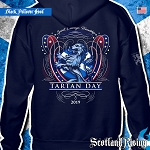 Official Scotland Rising 2019 Tartan Day Scotland Hooded Pullover Sweatshirt