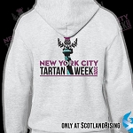 New York City Tartan Week 2020 Logo Zipper Hood