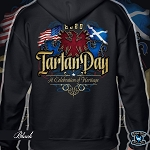 Official Scotland Rising 2020 Tartan Day Hooded Zipper Sweatshirt