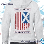 New York City Tartan Day Flag Zipper Hood