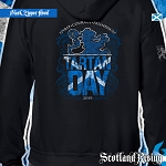 Official Scotland Rising 2019 Tartan Day SCOTLAND Hooded Zipper Sweatshirt