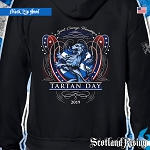 Official Scotland Rising 2019 Tartan Day USA Hooded Zipper Sweatshirt