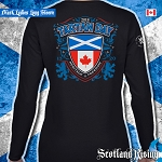 Tartan Day Canada Ladies Long Sleeve Tee