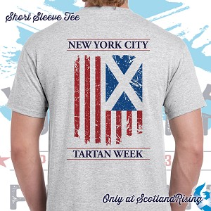 New York City Tartan Week Flag Short Sleeve Tee 2019