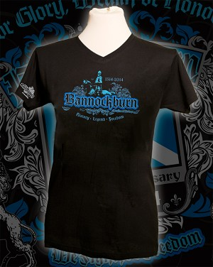 Ladies V-Neck Bannokburn 700th anniversary