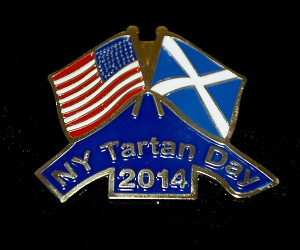 New York Tartan Day Pin 2014
