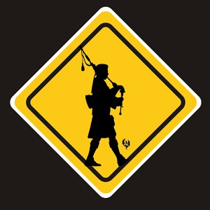 Piper warning Sticker