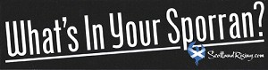 What's in your Sporran Bumper Sticker