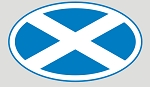 Oval Scot Flag Vinyl Sticker