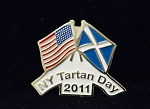 New York Tartan Day Pin 2011