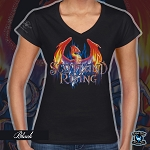 Rising Phoenix Ladies V-neck T-shirt 10th Anniversary Edition
